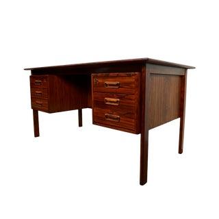 Arne Vodder H. Sigh and Sons Danish Modern Rosewood Executive Desk For Sale