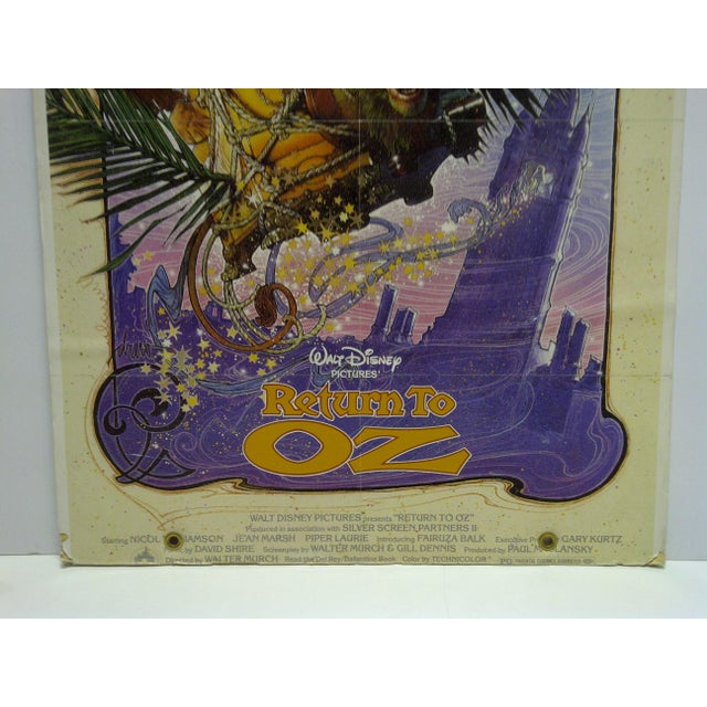 "American ""Walt Disney's Return to Oz"" Mounted Original Movie Poster For Sale - Image 3 of 6"