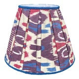 Image of Pleated Ikat Lampshade For Sale