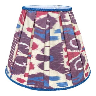 Pleated Ikat Lampshade For Sale