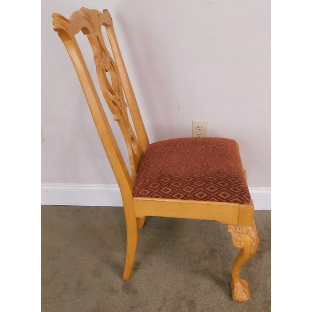 Lexington Solid Pine Chippendale Style Ball & Claw Carved Pair Side Chairs For Sale - Image 9 of 13