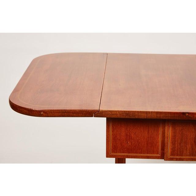 19th Century Danish Empire Mahogany Salon Table For Sale - Image 4 of 11