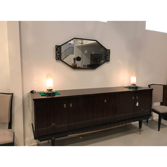 French Art Deco Table Lamps by Genet Et Michon With Marble Base - a Pair For Sale - Image 9 of 10