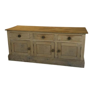19th Century Antique English Pine Sideboard For Sale