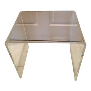 Vintage Lucite Waterfall Stool For Sale