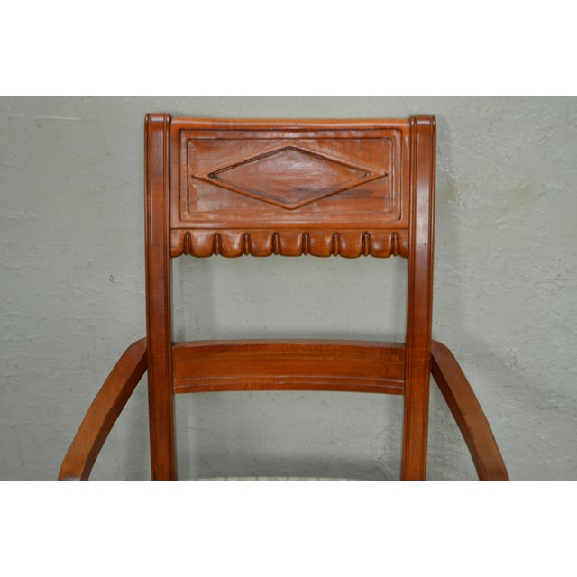 Lexington Regency Style Set of 4 Cherry Wood Arm Chairs For Sale - Image 9 of 10