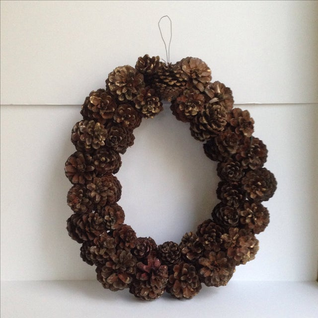 Vintage Natural Pinecone Wreath - Image 3 of 11