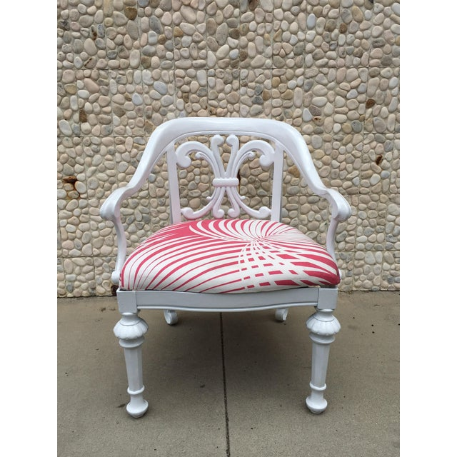 A set of 4 rare patio chairs designed by Dorothy Draper for Kessler Industries, an American company. This set has a...