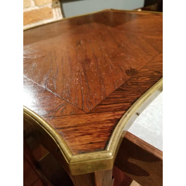 Early 20th Century Jacques Bodart Inc. Satinwood Occasional Table From Waldorf Astoria For Sale In Raleigh - Image 6 of 12