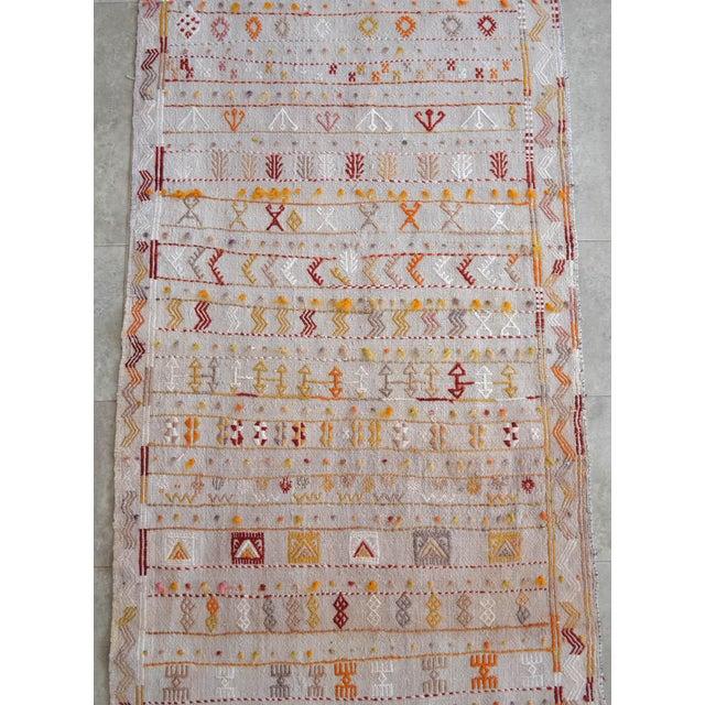 Antique Handmade Kilim Runner Rug Masterwork Cotton Jajim Hallway Decor - 2′9″ × 11′9″ For Sale - Image 9 of 12