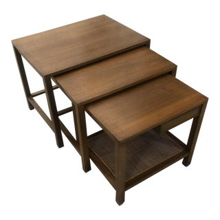 Mid-Century Set of 3 Nested Tables by Harvey Probber For Sale