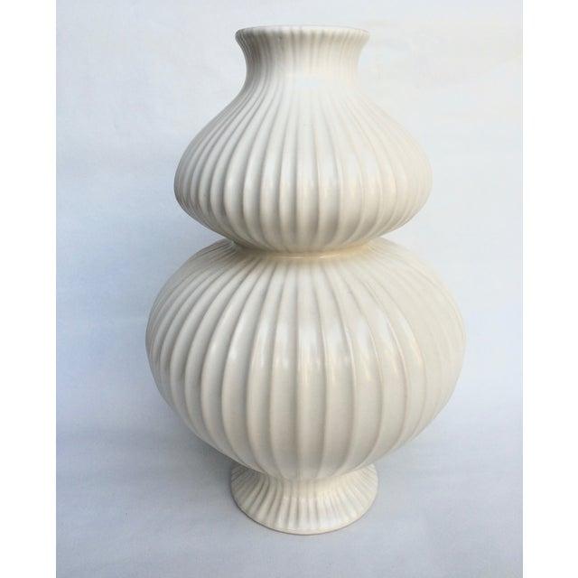 Jonathan Adler White Vase - Image 3 of 4
