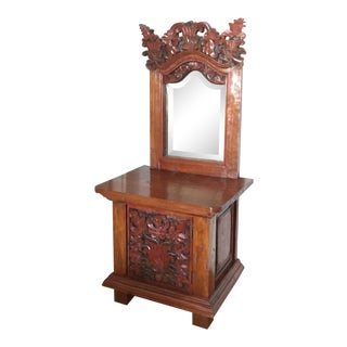 Antique Teak Dressing Table For Sale