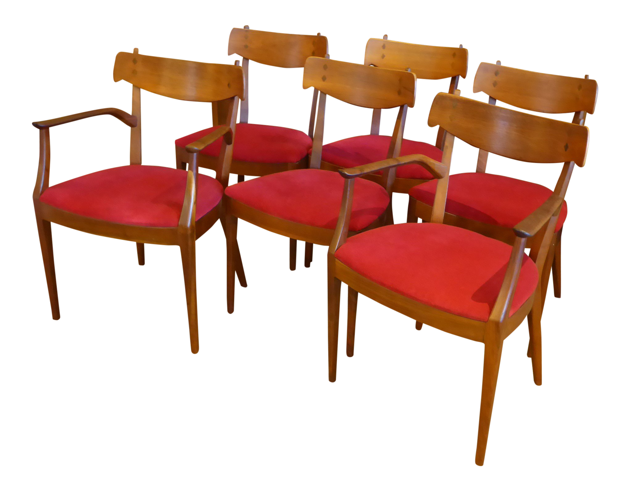 Beautiful 1950s Stewart U0026 MacDougall For Drexel Walnut Dining Chairs   Set Of 6