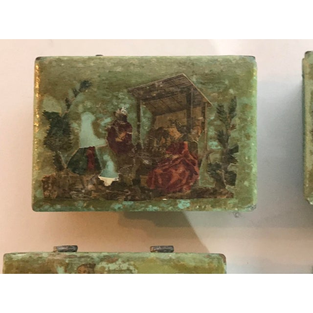 Traditional Green Dresser Boxes - Set of 4 For Sale - Image 4 of 10