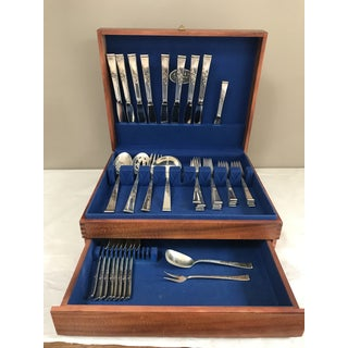 Reed & Barton, Classic Rose Sterling Silver Flatware With Serving Pieces, Place Settings for 8 Preview