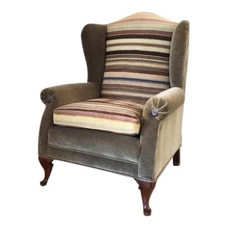 1940's Turkish Mohair Wingback Chair