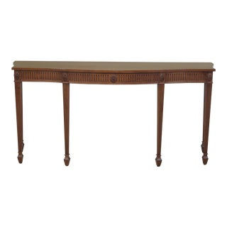 Adam Style Solid Walnut Custom Made Console Sideboard Table