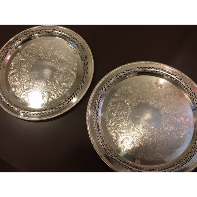 W.M. Rogers Silverplate Trays #162 & 4272p - Pair - Image 5 of 10