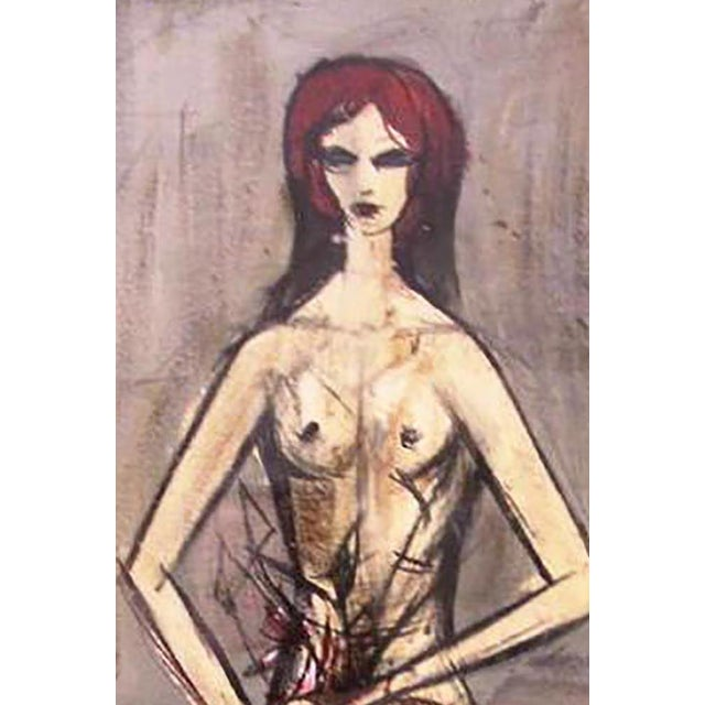 """Charles Levier """"Figure with Flowers"""" Painting - Image 3 of 4"""