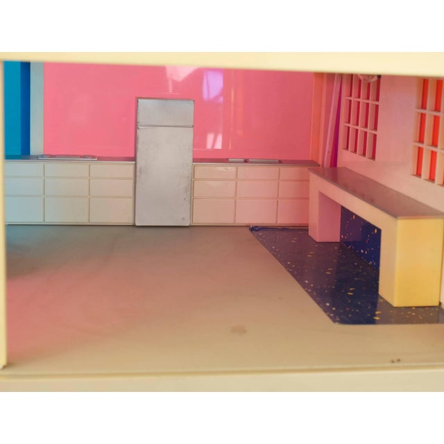 American midcentury plastic multicolored scale architectural model of a two story modern home (1960s).