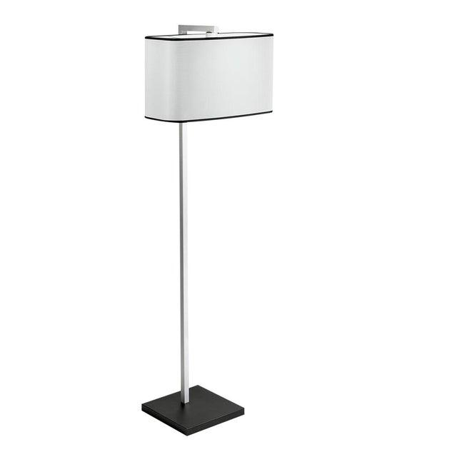 Mid-Century Modern Satin Black and Aluminium Floor Light For Sale - Image 3 of 4