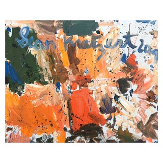 Abstract Oil Painting by Sean Kratzert, 'Farm House' For Sale