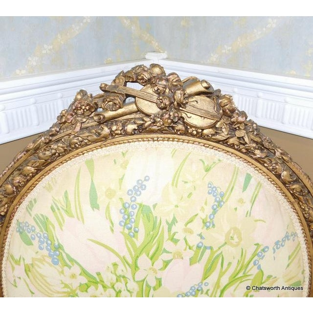 French Carved Giltwood Louis XVI Parlor Set - S/4 - Image 4 of 10