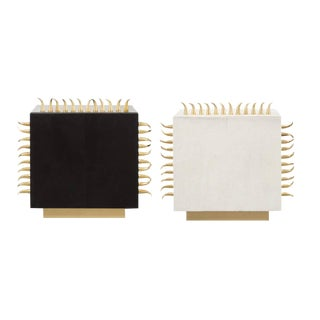 Gold Spike Side Tables - Set of 2