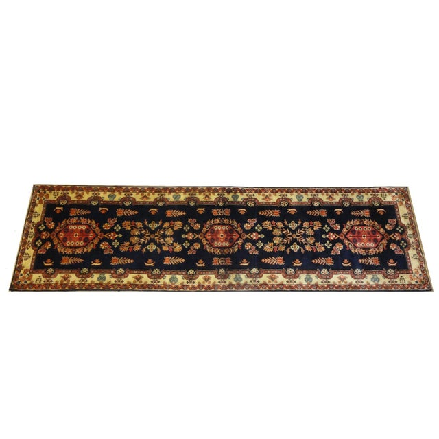 """Indian Sarouk Runner Rug - 9'10"""" x 2'10"""" For Sale"""