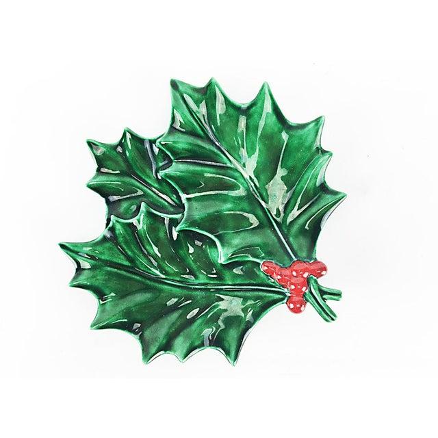 Vintage Christmas Holly Leaf Dish - Image 3 of 4