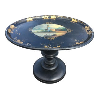 19th Century English Traditional Papier-Mâché Tray Table For Sale