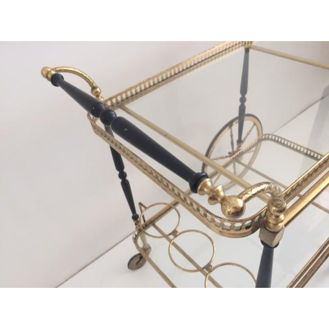 French Bar Cart From the 1940's For Sale - Image 9 of 10