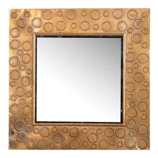 Petit Gold Circle Mirror For Sale