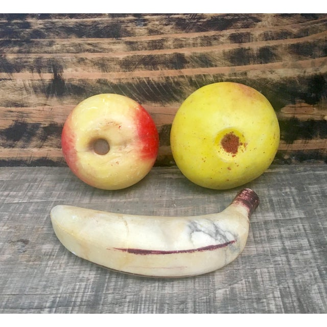 Vintage Italian Alabaster Fruit - Set of 3 - Image 5 of 5