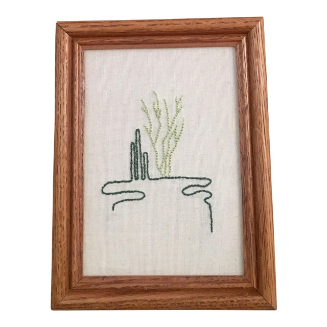 Cacti Line Art Embroidery - Image 1 of 5