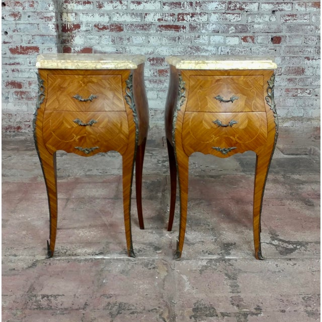 French 19th Century Marquetry Petit Commodes- a Pair For Sale - Image 10 of 10