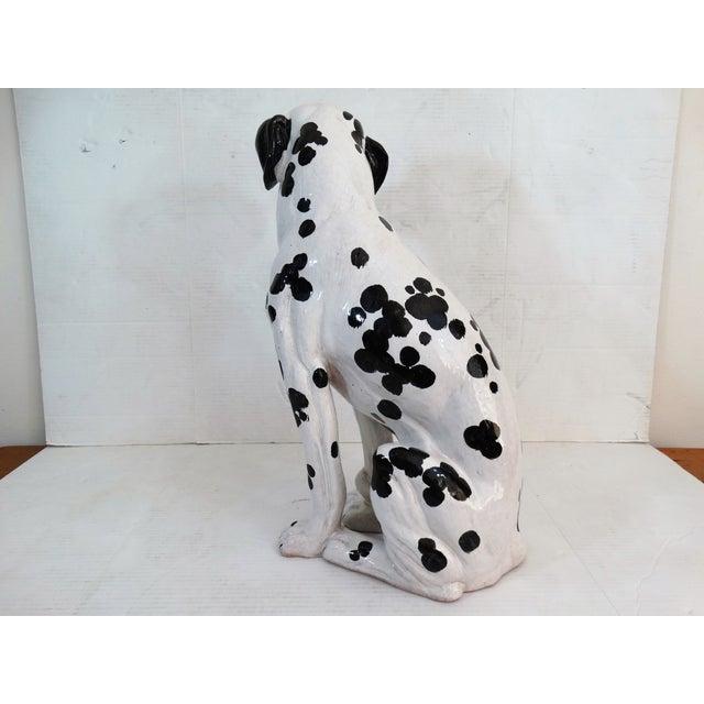 Mid-Century Modern Italian Dalmatian Dog Statue For Sale In Houston - Image 6 of 8