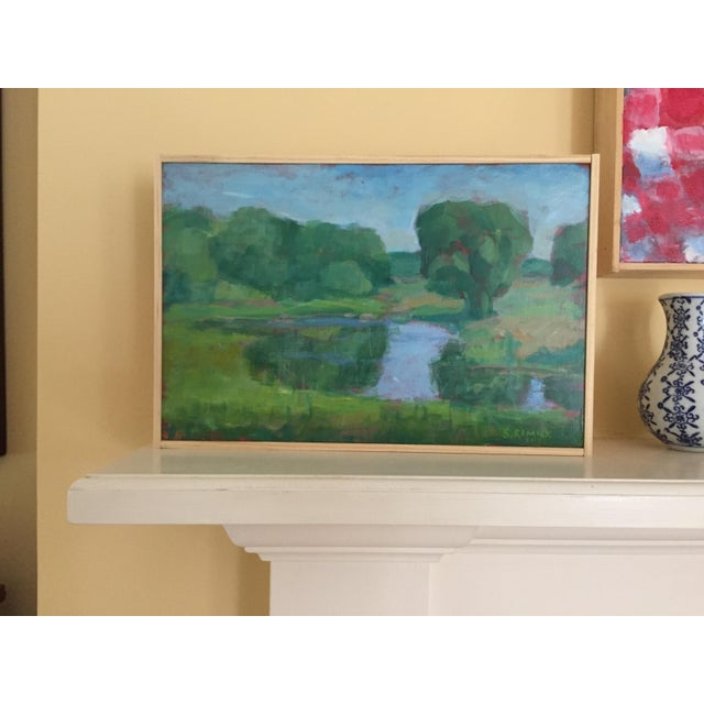 """Blue Stephen Remick, """"Pastoral"""", Contemporary Plein Air Painting For Sale - Image 8 of 9"""