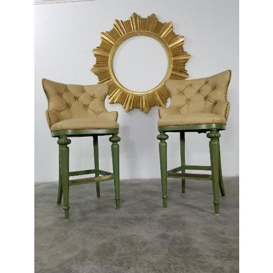 Hickory Century Ostrich Barstools For Sale - Image 11 of 13
