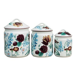 Mid Century Japanese Ceramic Kitchen Containers - Set of 3
