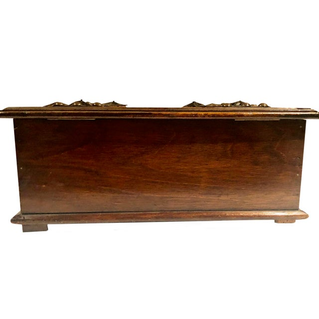 Antique Turn of the Century German Walnut Box For Sale - Image 9 of 10