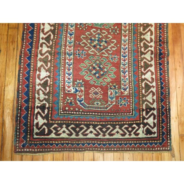 Antique Caucasian Kazak Rug- 3' x 4'3'' - Image 4 of 7