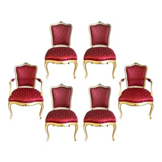 Louis XVI Dining Chairs - Set of 6 For Sale