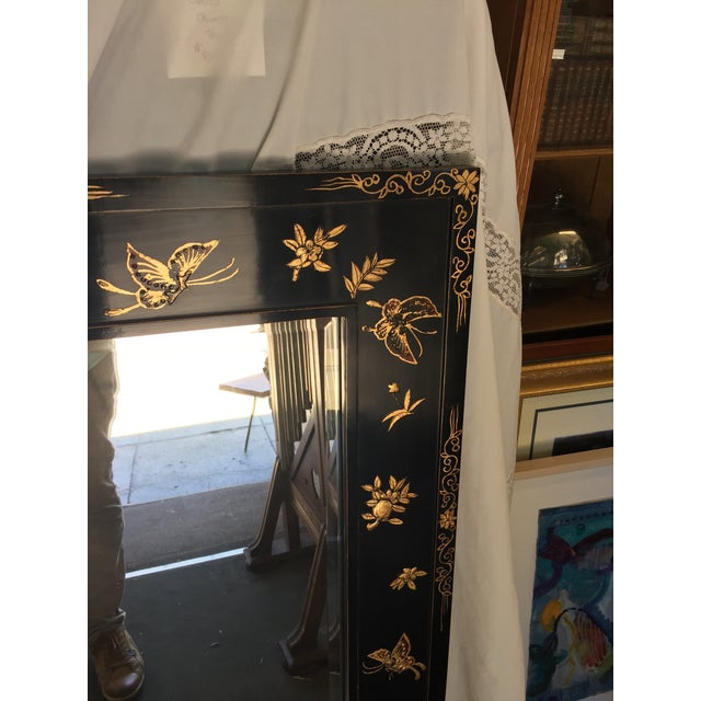 Chinoiserie Wal Mirror Decorated With Butterflies For Sale In San Francisco - Image 6 of 13