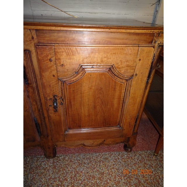 French French Louis XV Walnut Enfilade For Sale - Image 3 of 13