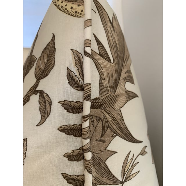 Traditional Brunschwig & Fils Bird and Thistle Cotton Print Pillow For Sale - Image 3 of 4