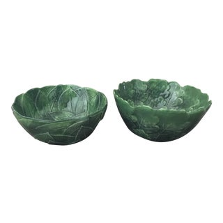 Vintage Vietri Pottery Italian Serving Bowls- a Pair For Sale