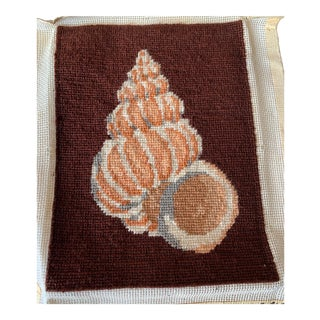 Needlepoint Shell Completed Canvas For Sale