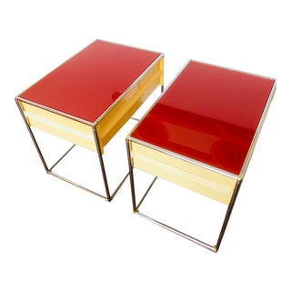 1980s Post Modern Memphis Style End Tables - a Pair For Sale